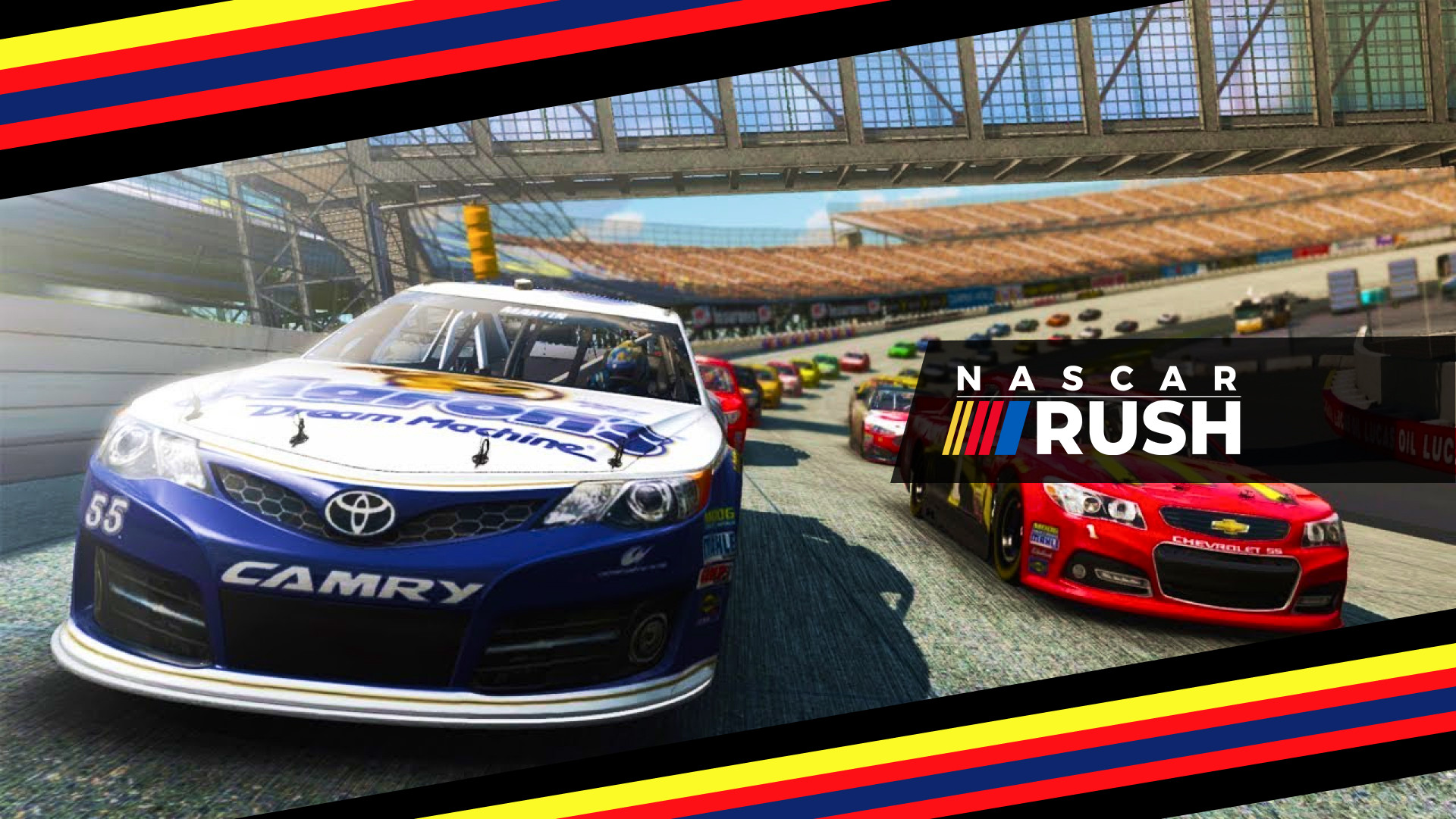 nascar rush, racing video game, racing game, xbox racing game, ps4 racing game, mobile racing game