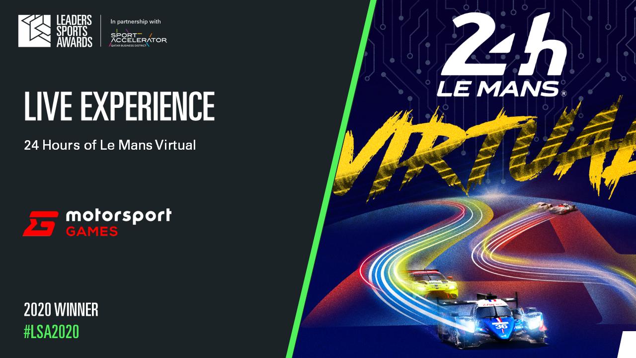 Le Mans Virtual wins Leaders Sports Award