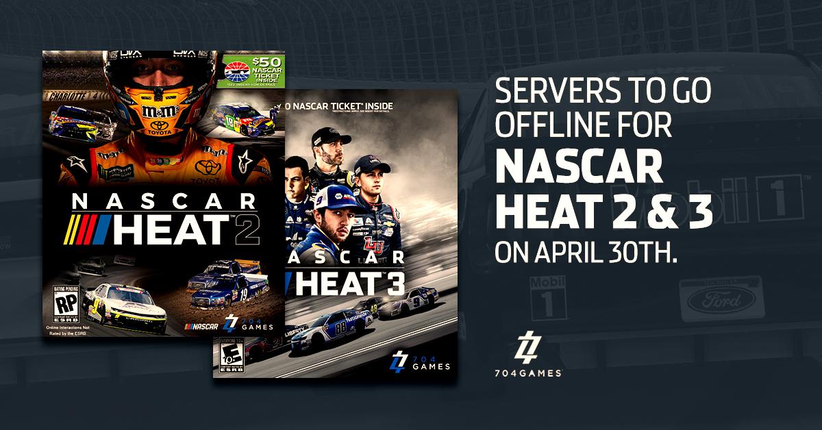 NASCAR Heat 2 and 3 Sunset
